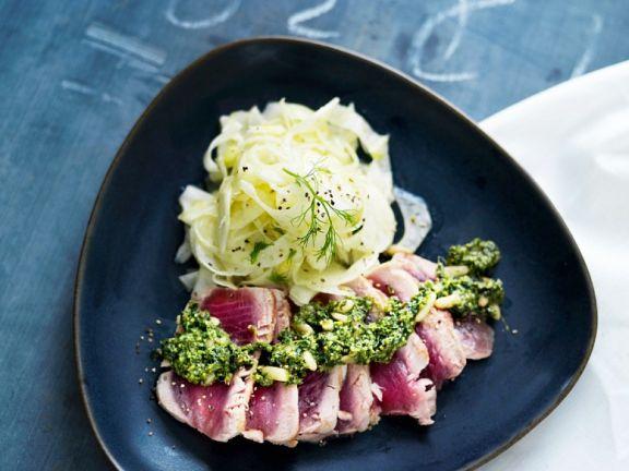 Fenchelsalat mit Thunfisch
