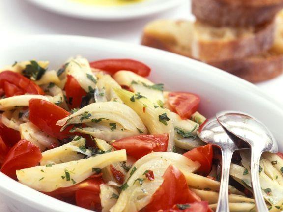 Fenchelsalat mit Tomaten
