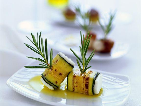 Feta in Zucchinihülle