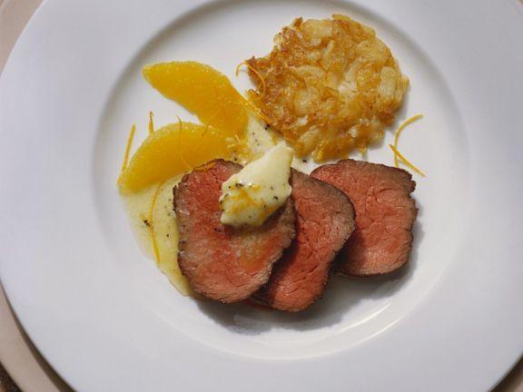 Filetsteak mit Orangensauce
