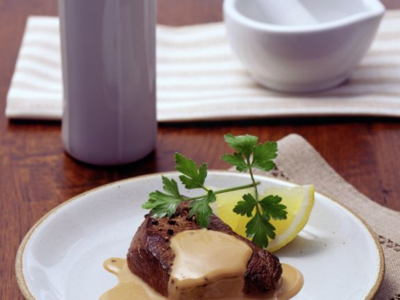 Filetsteak mit Whisky-Sahnesauce
