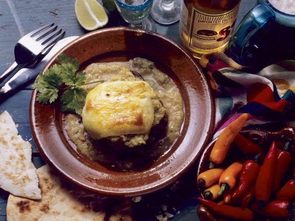 Filetsteaks mit Käse überbacken