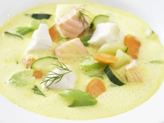 Fisch-Curry-Suppe
