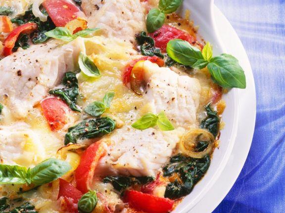 Fisch-Gemüsegratin