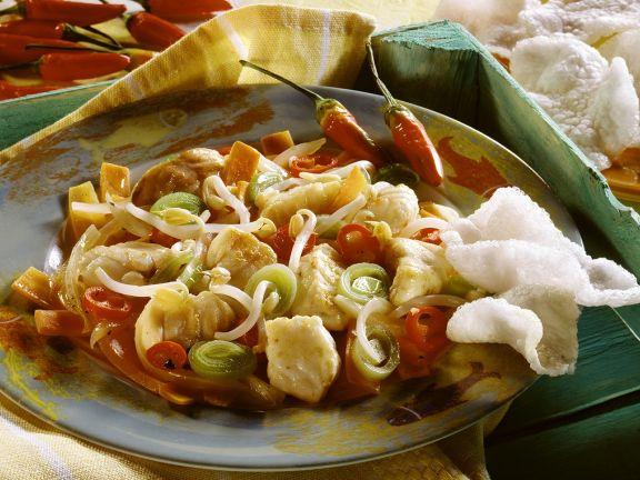 Fisch-Gemüsepfanne