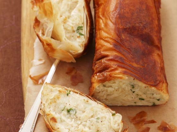 Fisch-Kartoffel-Strudel aus Filloteig