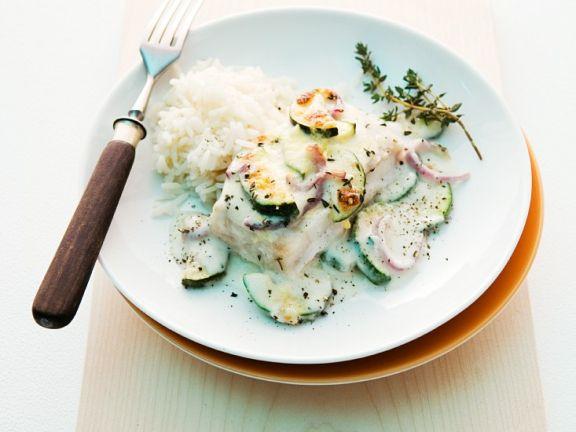 Fisch mit Gemüsebechamel