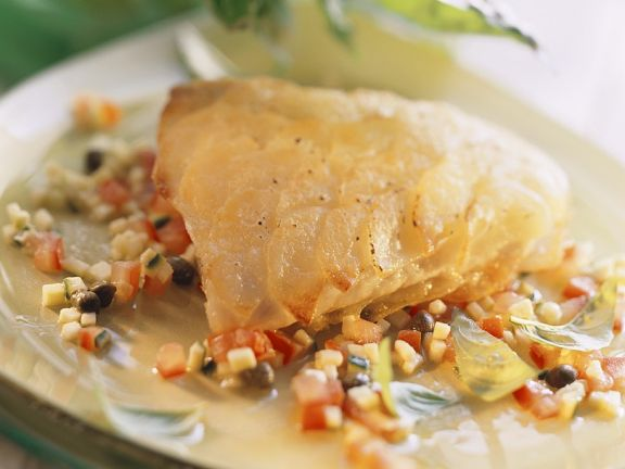 Fisch mit Kartoffelschuppen