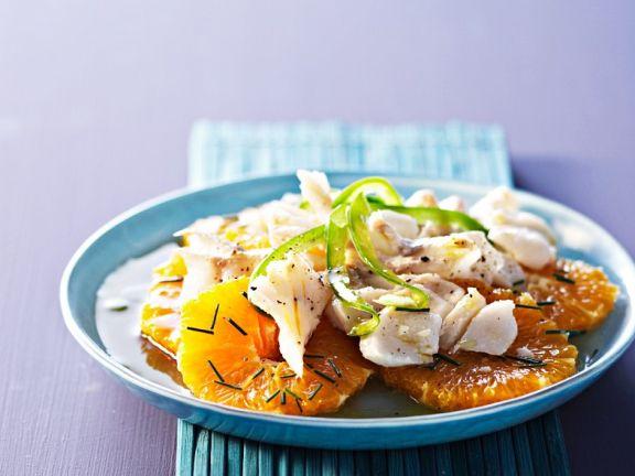 Fisch mit Orangenvinaigrette