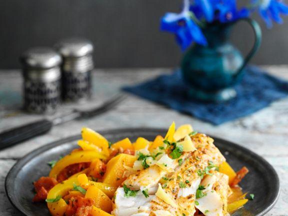 Fisch-Paprika-Tajine mit Zitrone