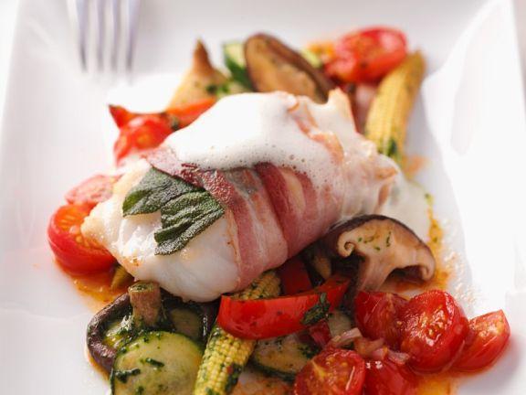 Fisch-Saltimboca