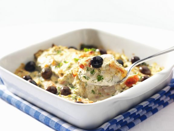 Fisch-Spinat-Auflauf mit Oliven