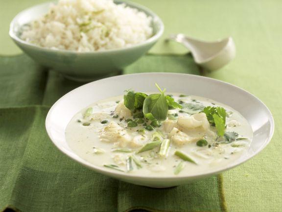 Fischcurry mit Kokosmilch