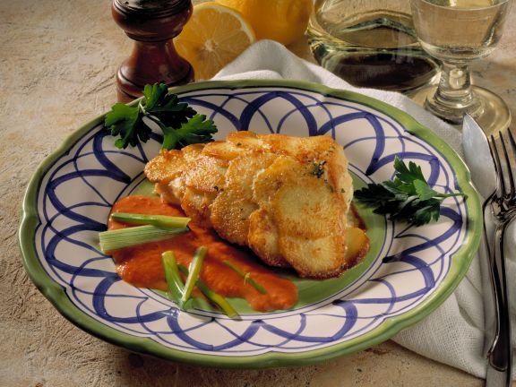Fischfilet in Kartoffelhülle