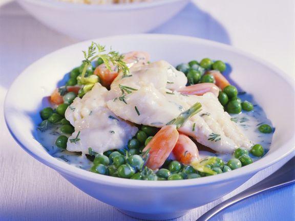 Fischfilet mit Gemüse