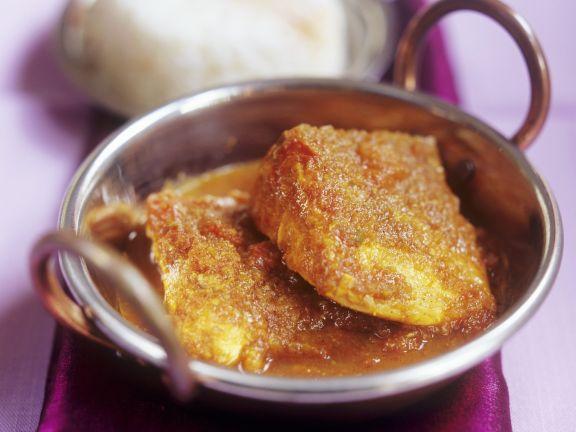 Fischfilet mit Madras-Curry