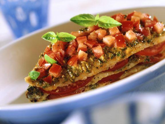Fischfilet mit Tomatenhaube