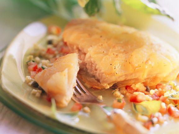 Fischfilets mit Kartoffelhaube
