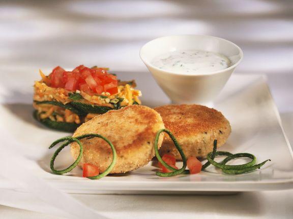 Fischfrikadellen mit Gemüse