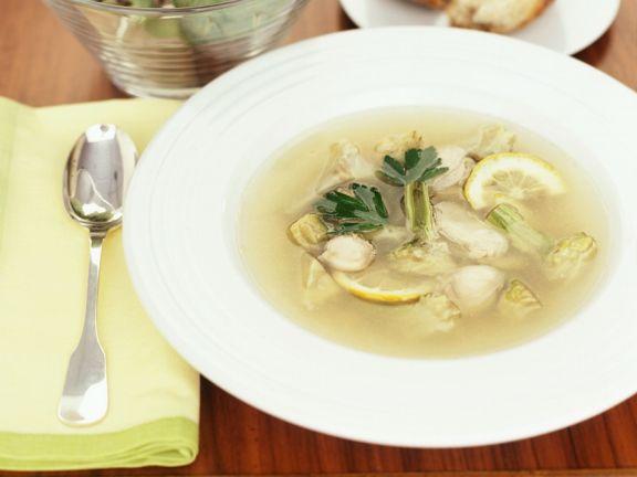 Fischsuppe mit Austern