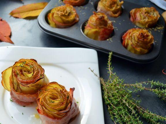 Fitmelonies Kartoffelrosen mit Speck