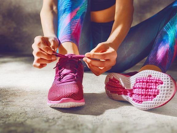 Frau in Sportkleidung