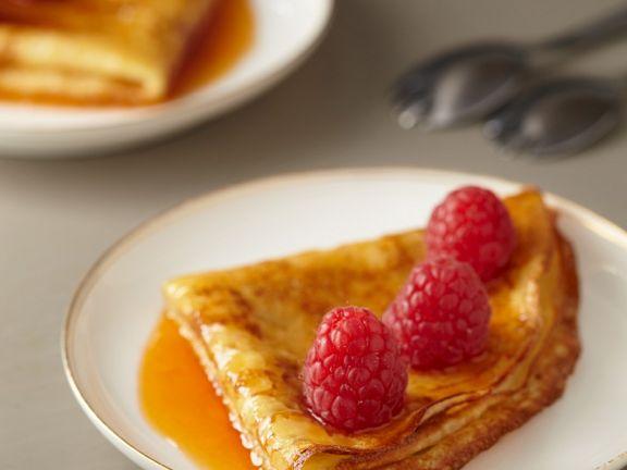 Flammbierte Pfannkuchen aus Frankreich