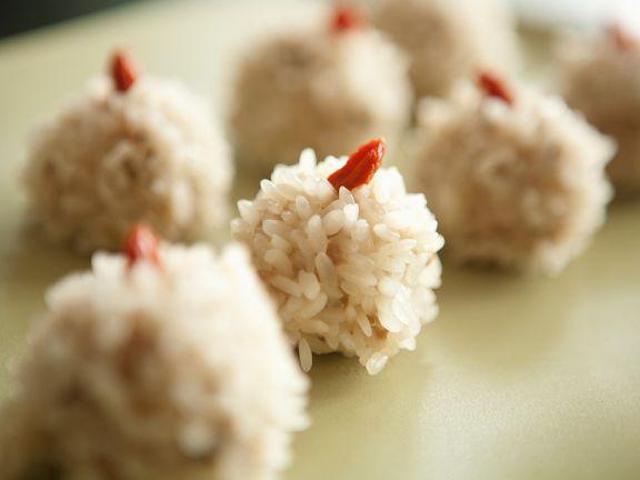 Fleisch-Reisbällchen