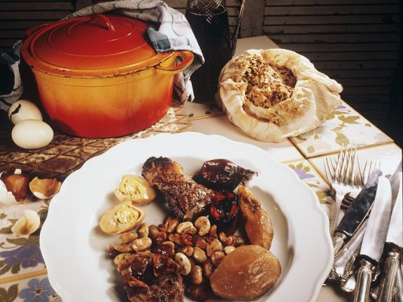 Fleischeintopf mit Bohnen