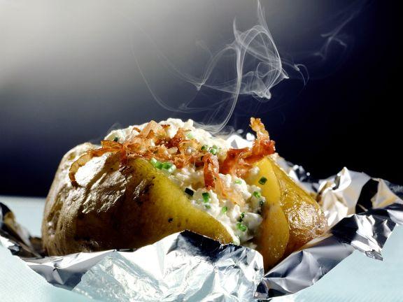 Folienkartoffeln mit Hüttenkäse