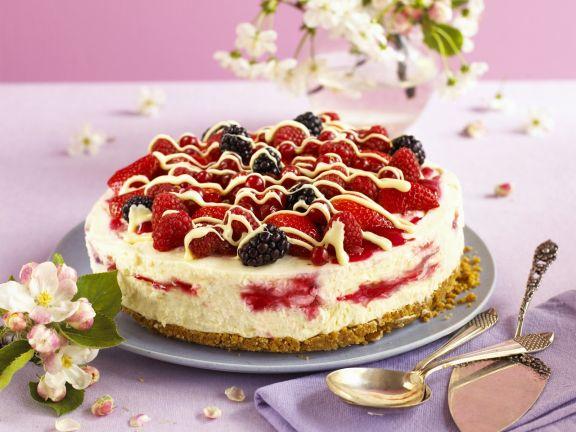 Frischkäse-Beeren-Torte