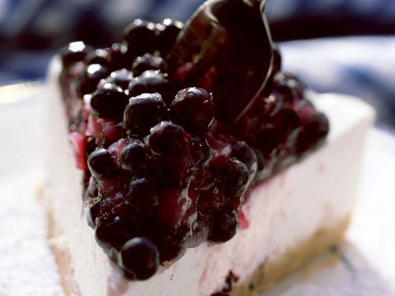 Frischkäse-Blaubeer-Kuchen