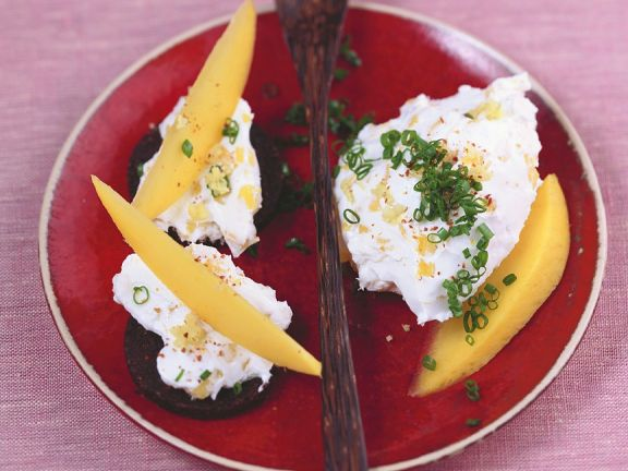 Frischkäseaufstrich mit Mango