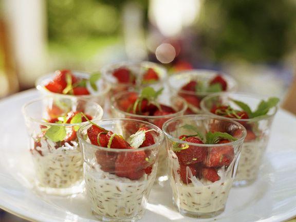 Frischkäsecreme mit Erdbeeren
