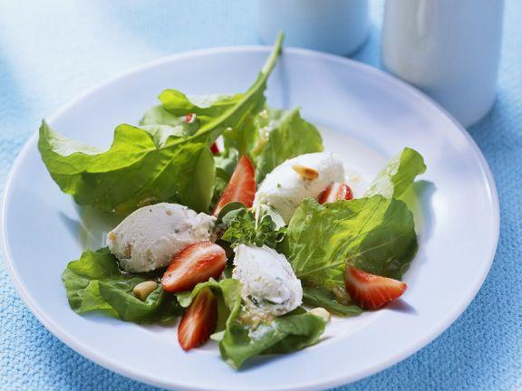 Frischkäsecreme mit Salat
