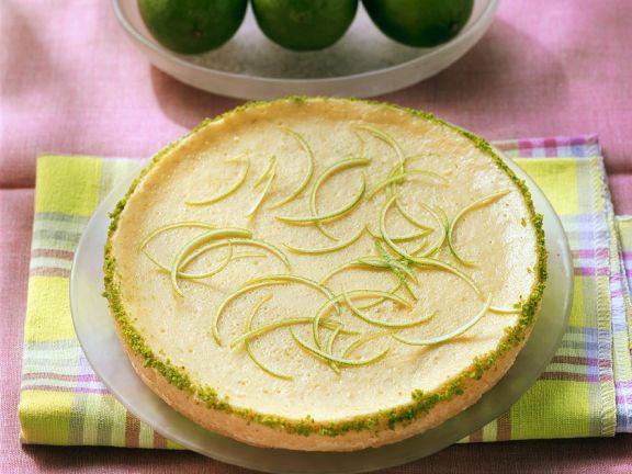 Frischkäsetarte mit Limetten