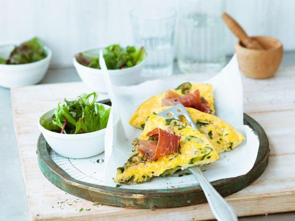 Frittata mit Zucchini und Schinken