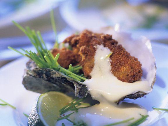 Frittierte Austern mit Hollandaise