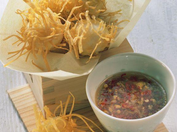 Frittierte Fischbällchen