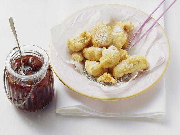 Frittierte Ricotta mit Feigensauce
