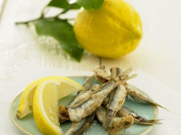 Frittierte Sardinen