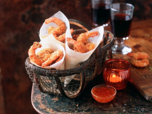Frittierte Shrimps