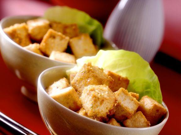 Frittierte Tofuwürfel