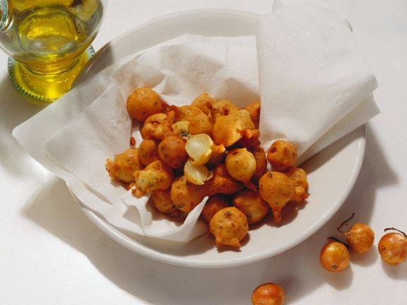 Frittierte Zwiebelchen