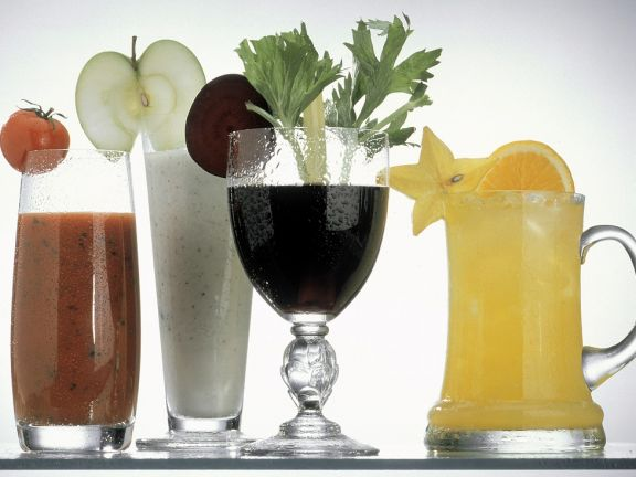 Frucht- und Gemüsedrinks