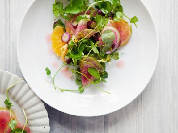 Fruchtiger Kressesalat