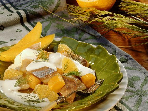 Fruchtiger Matjessalat
