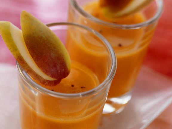 Fruchtiger Möhrensaft