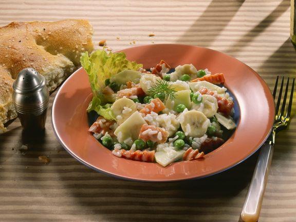 Fruchtiger Reissalat mit Gemüse