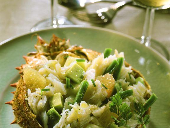Fruchtiger Seespinnensalat